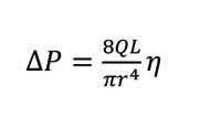 Poiseuille's law formula