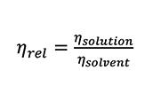 relative viscosity formula
