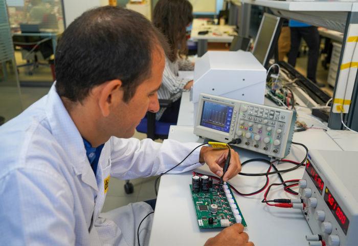 an electronic engineer closeup work
