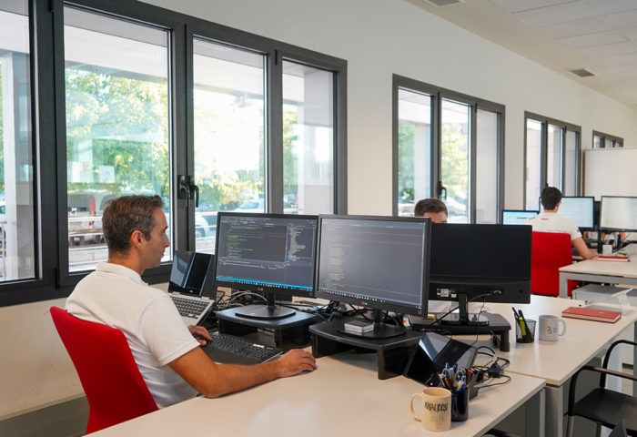 a engineer can be seen working on software development