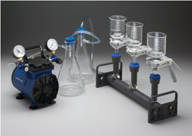 Filtration system with 3 vessels
